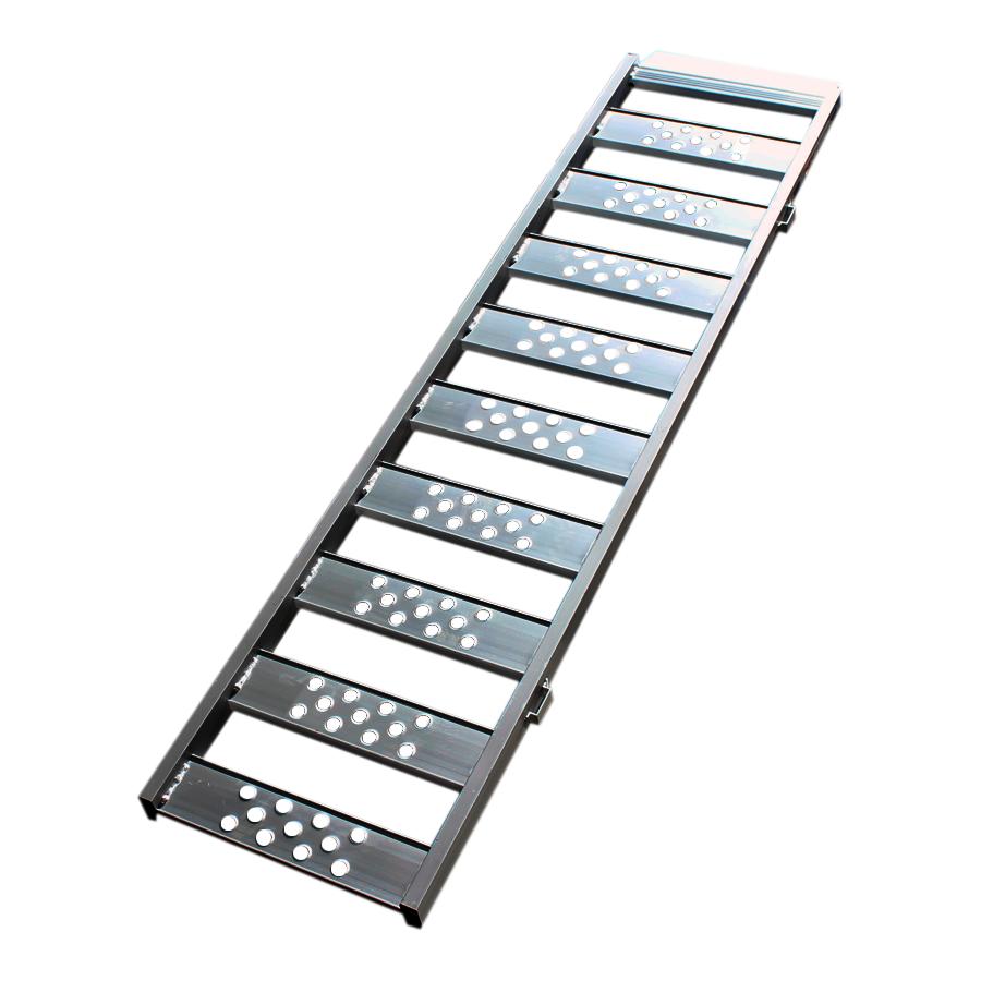 Aluminium oprijplaat inhaakbaar - 195 cm oprijgoot rijplaat plaat 1