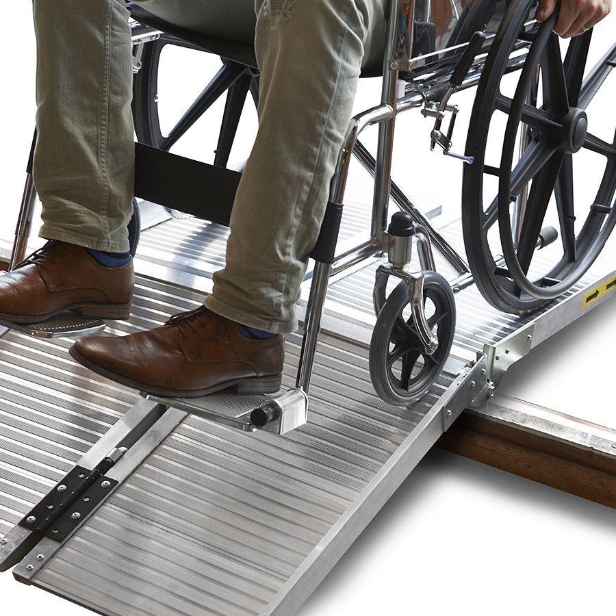 Oprijplaat scootmobiel rolstoel opvouwbaar aluminium rijgoot drempelhelling 5