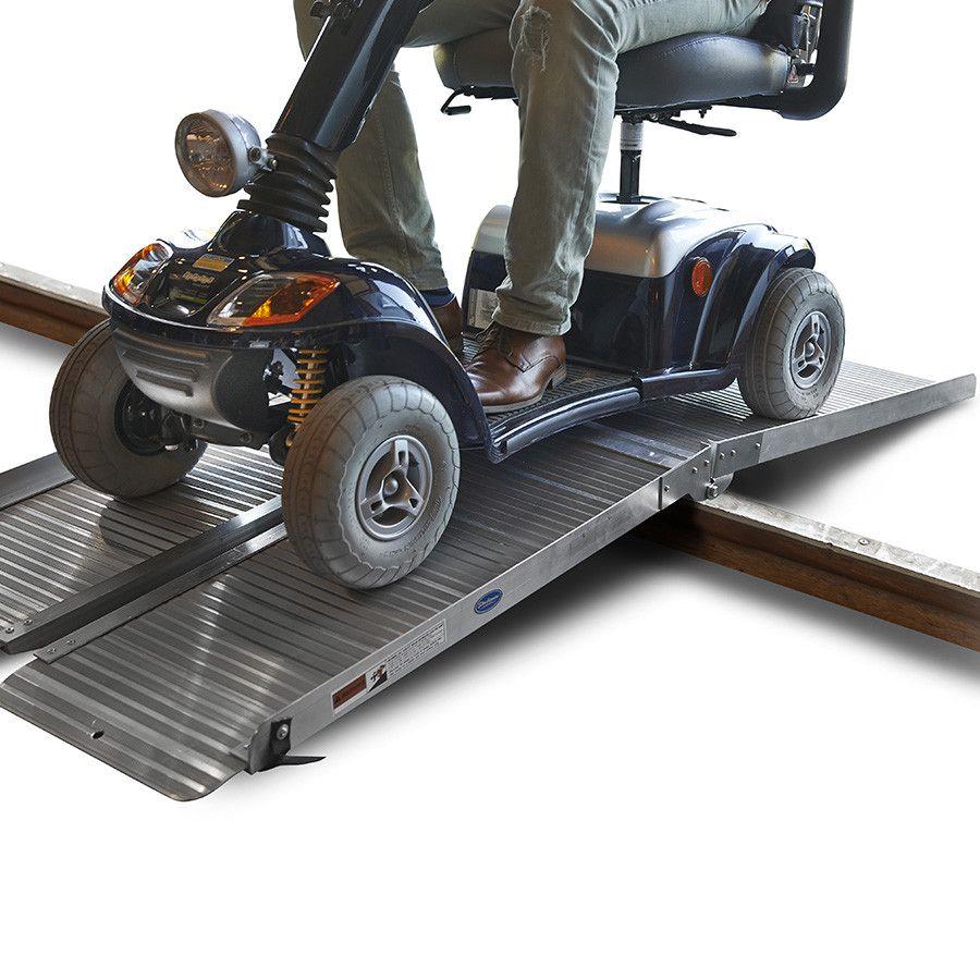 Oprijplaat drempelhulp inklapbaar - 180 cm rijplaat oprijplank aluminium 8
