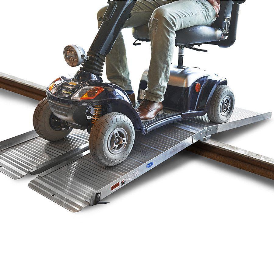 Oprijplaat drempelhulp inklapbaar - 180 cm rijplaat oprijplank aluminium 10
