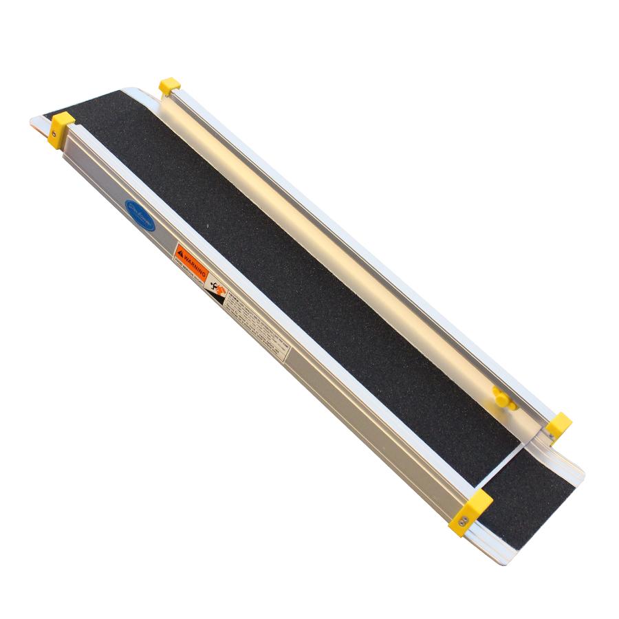 Aluminium oprijplaat uitschuifbaar - 120 cm (2 stuks) 2