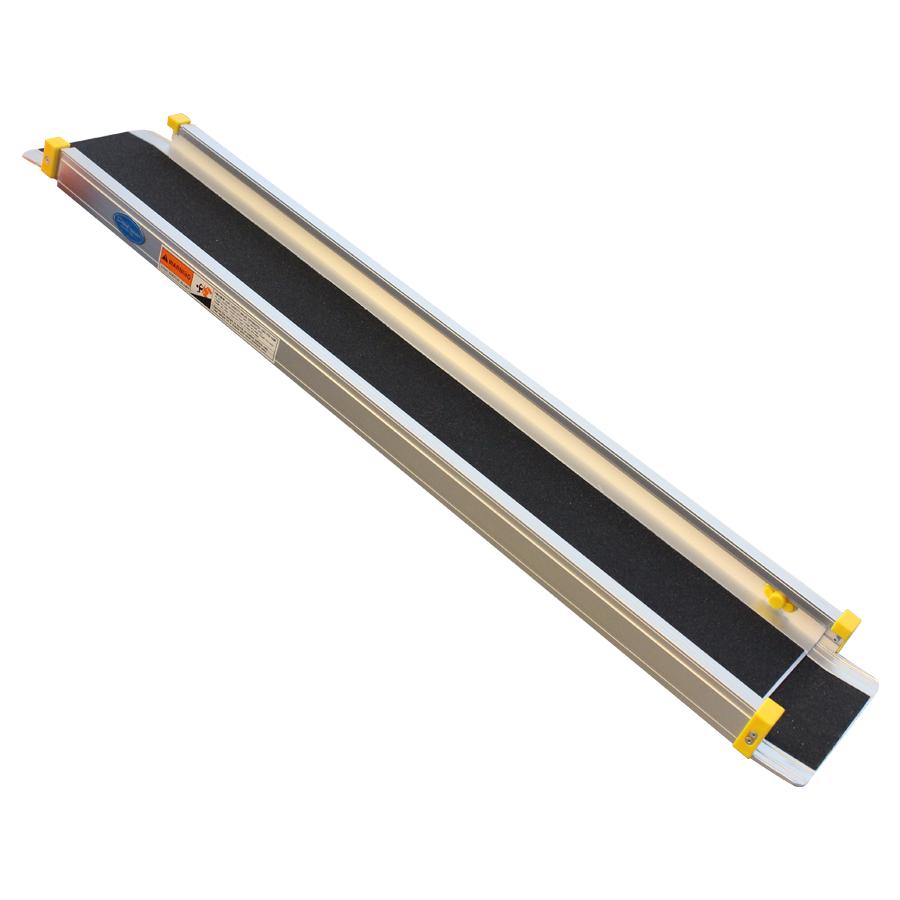 Aluminium oprijplaat uitschuifbaar - 180 cm (2 stuks) 2