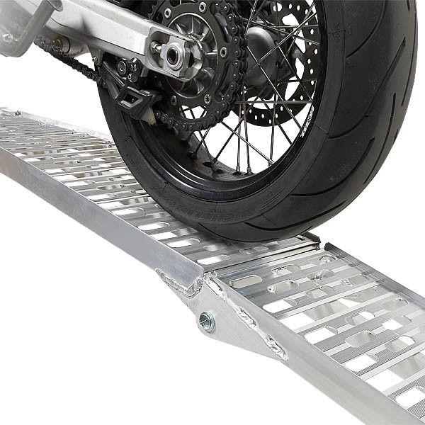 Extra stevige aluminium oprijplaat opklapbaar - 225 cm rijplaat rijgoot 2