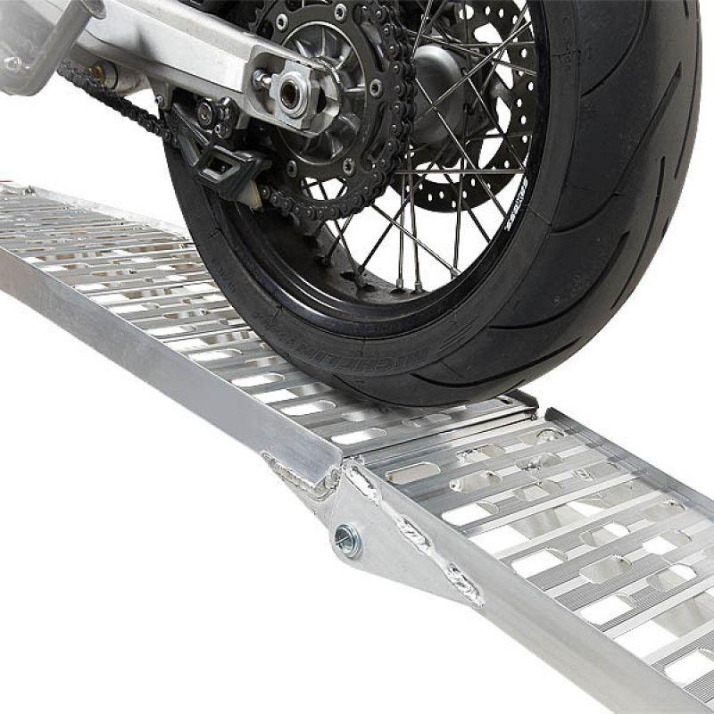 Extra verstevigde aluminium oprijplaat opklapbaar - 225 cm - 2 stuks 3
