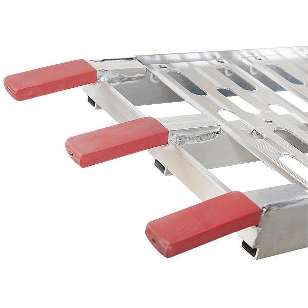 Extra stevige aluminium oprijplaat opklapbaar - 225 cm rijplaat rijgoot 9
