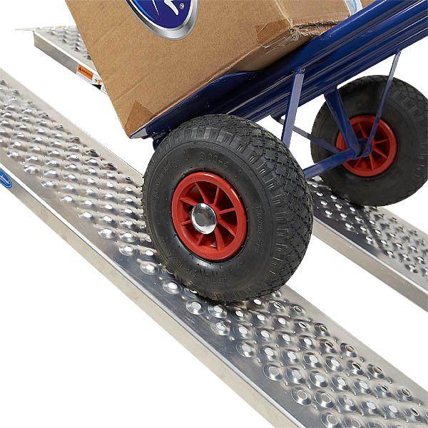 Oprijplaat rijplaat - aluminium - 150 cm rijgoot oprijhelling 2