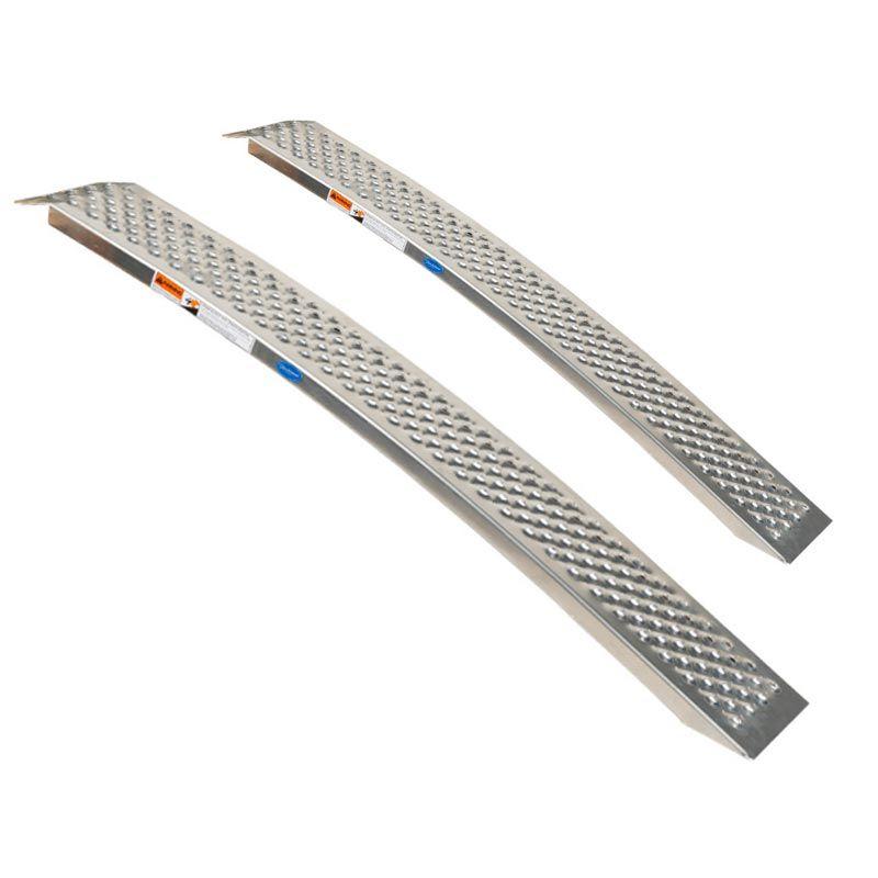 Aluminium oprijplaat - gebogen 150 cm - 2 stuks 1