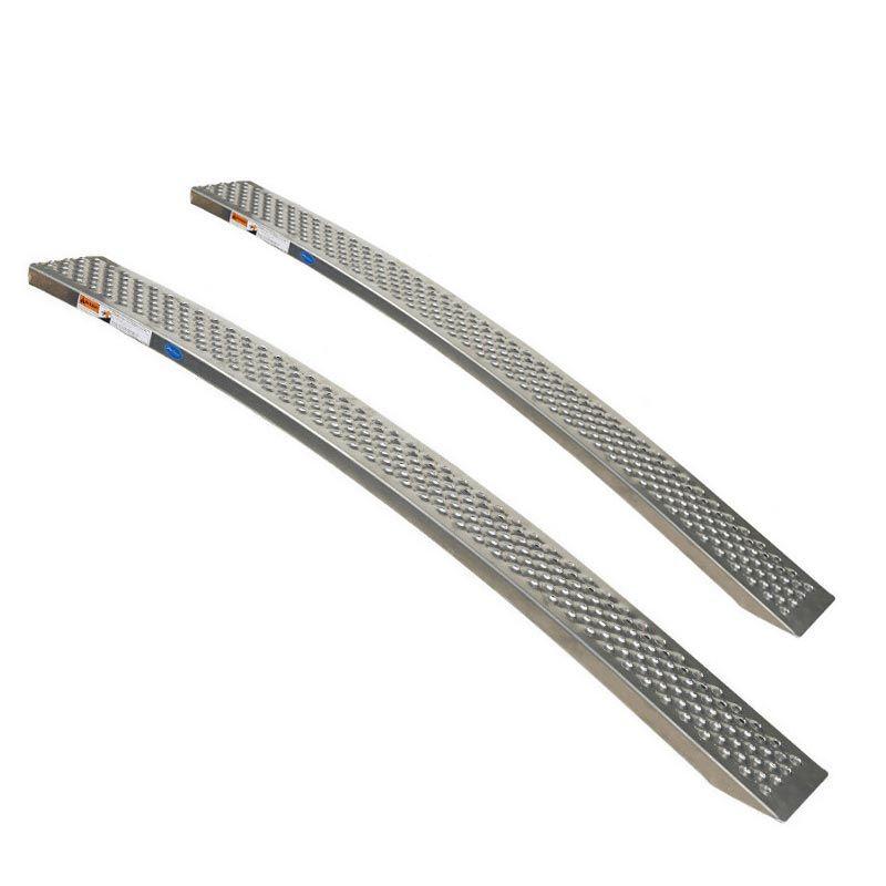 Aluminium oprijplaat - gebogen 200 cm - 2 stuks 1