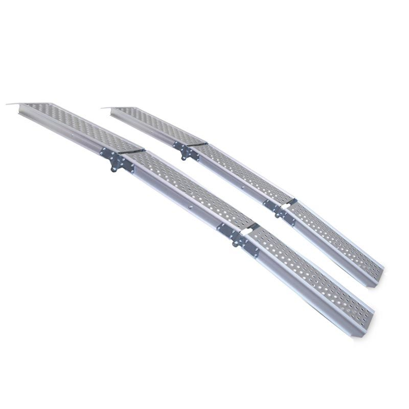 Aluminium oprijplaat compact twee keer inklapbaar - 195 cm - 2 stuks 1
