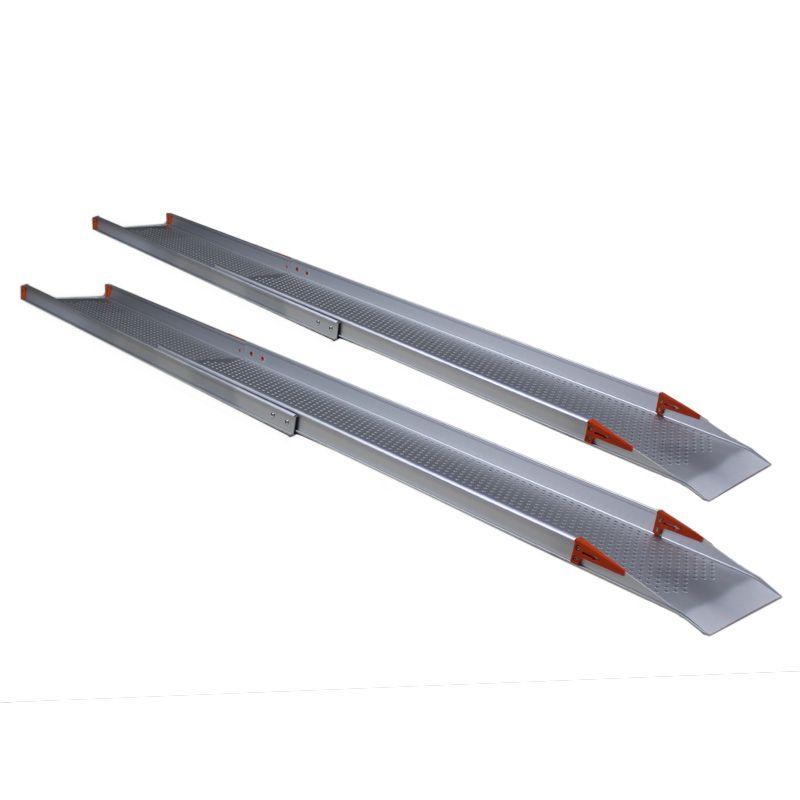 Uitschuifbare oprijplaat extra breed 240 cm lang - 2 stuks 1