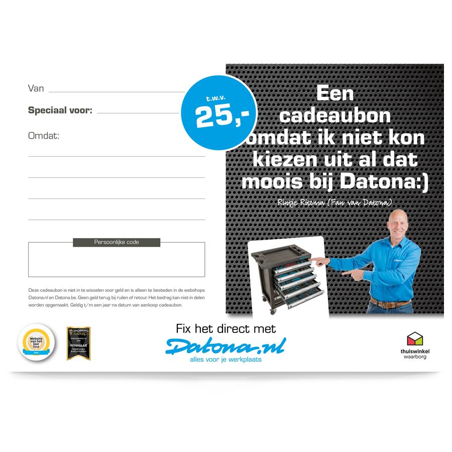Gereedschapsbon 25 euro 3