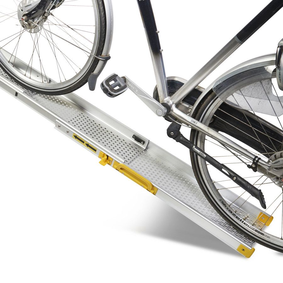 Compacte inschuifbare oprijplaat - 180 cm rijplaat rijgoot oprijhelling 1