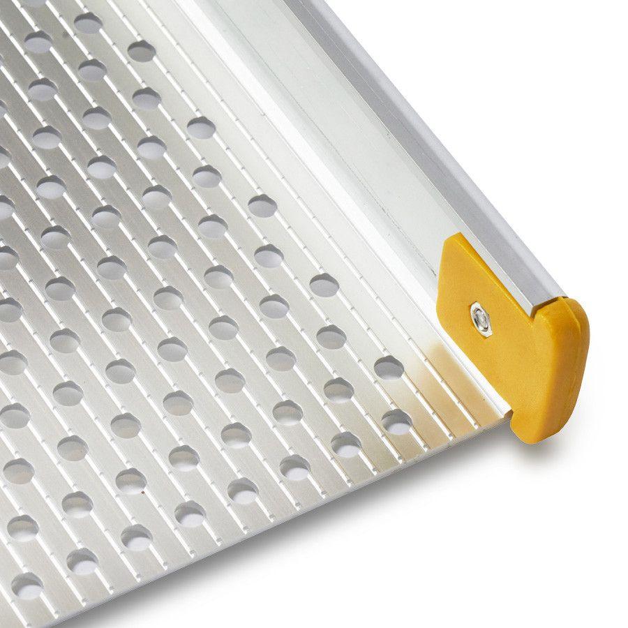 Aluminium oprijplaat inklapbaar - 120 cm rijplaat rijgoot oprijhelling 5