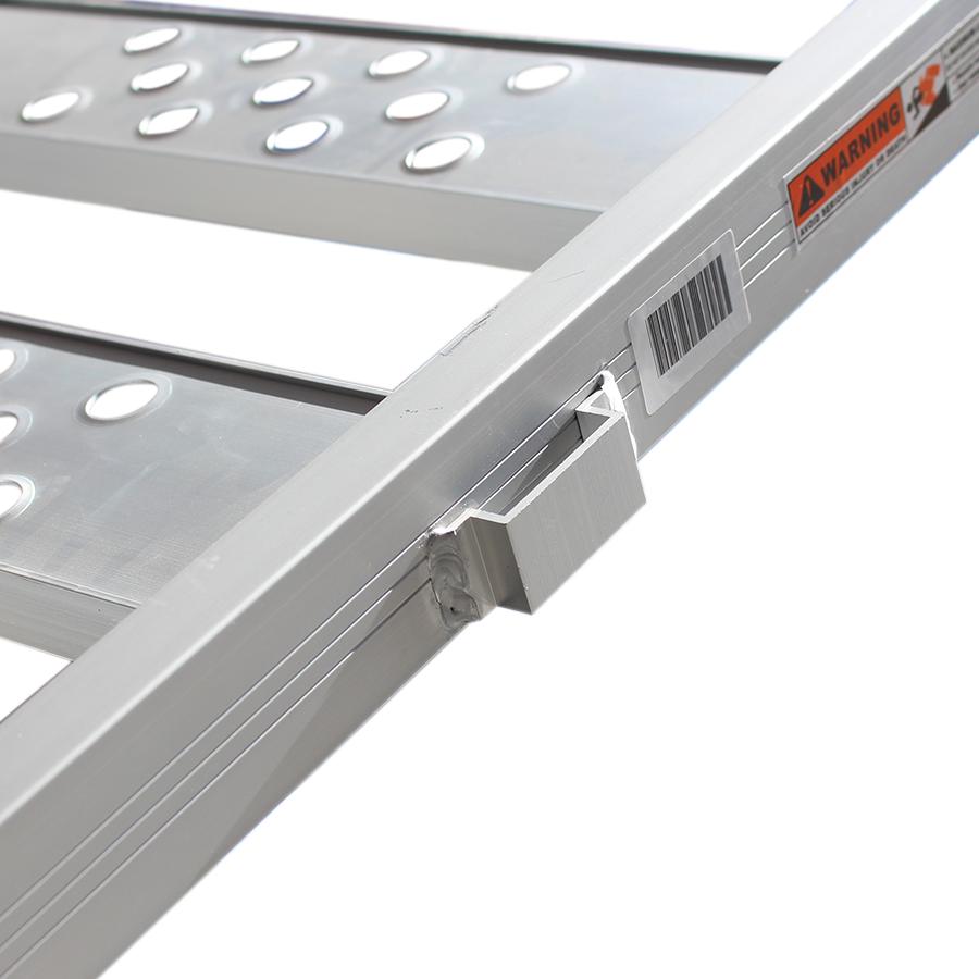 Aluminium oprijplaat inhaakbaar - 195 cm oprijgoot rijplaat plaat 3