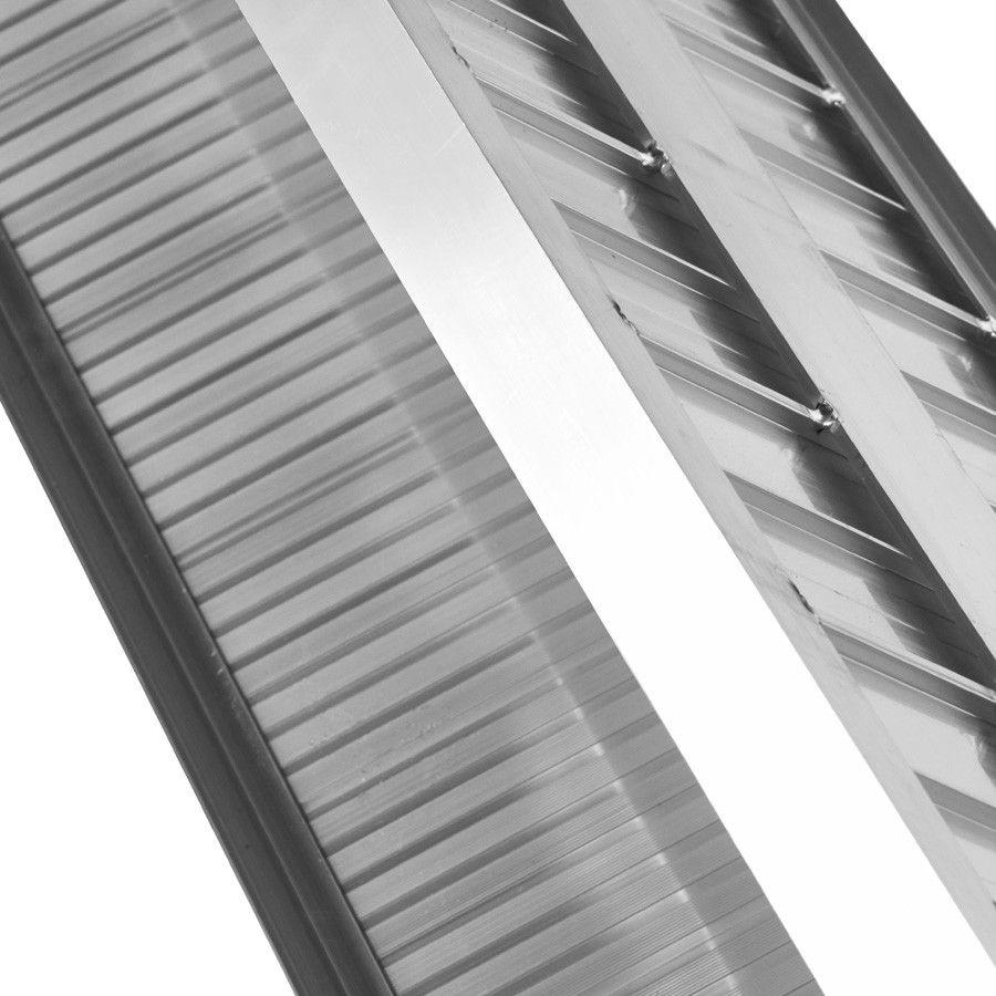 Oprijplaat extra breed - 240 cm rijplaat rijgoot aluminium plaat 10