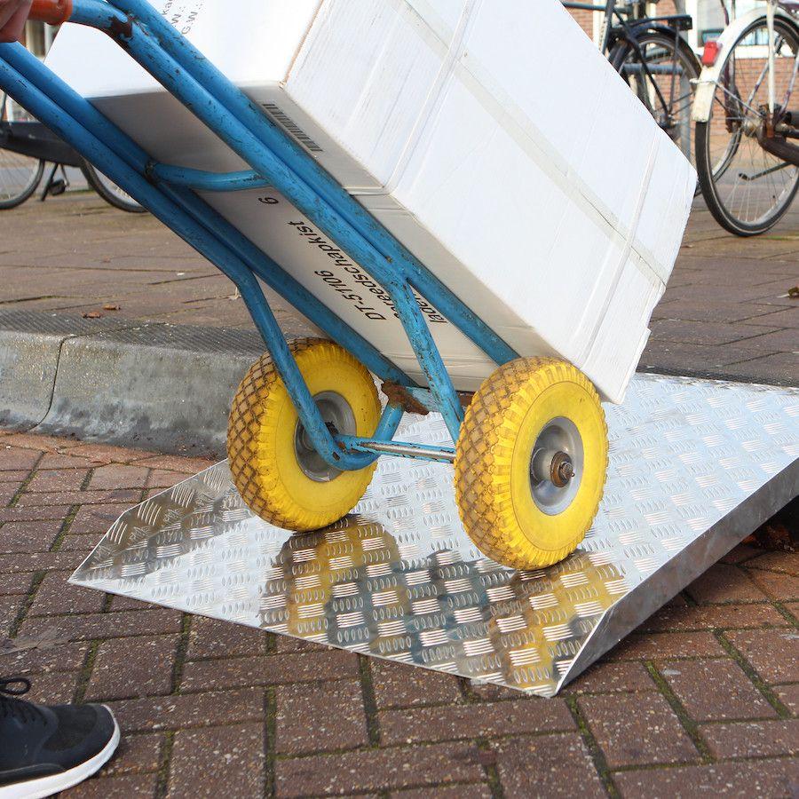 Drempelhulp extra sterk 25 - 30 cm rijgoot drempelplaat oprijhelling 10