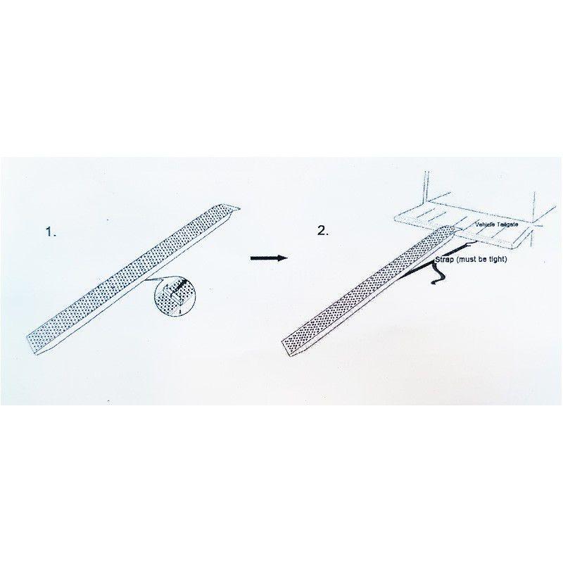 Aluminium oprijplaat - 200 cm (capaciteit 300 kg) 7