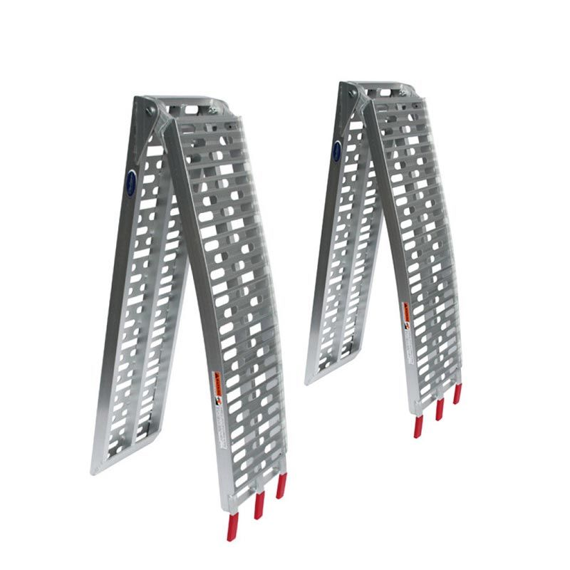 Extra verstevigde aluminium oprijplaat opklapbaar - 225 cm - 2 stuks 1
