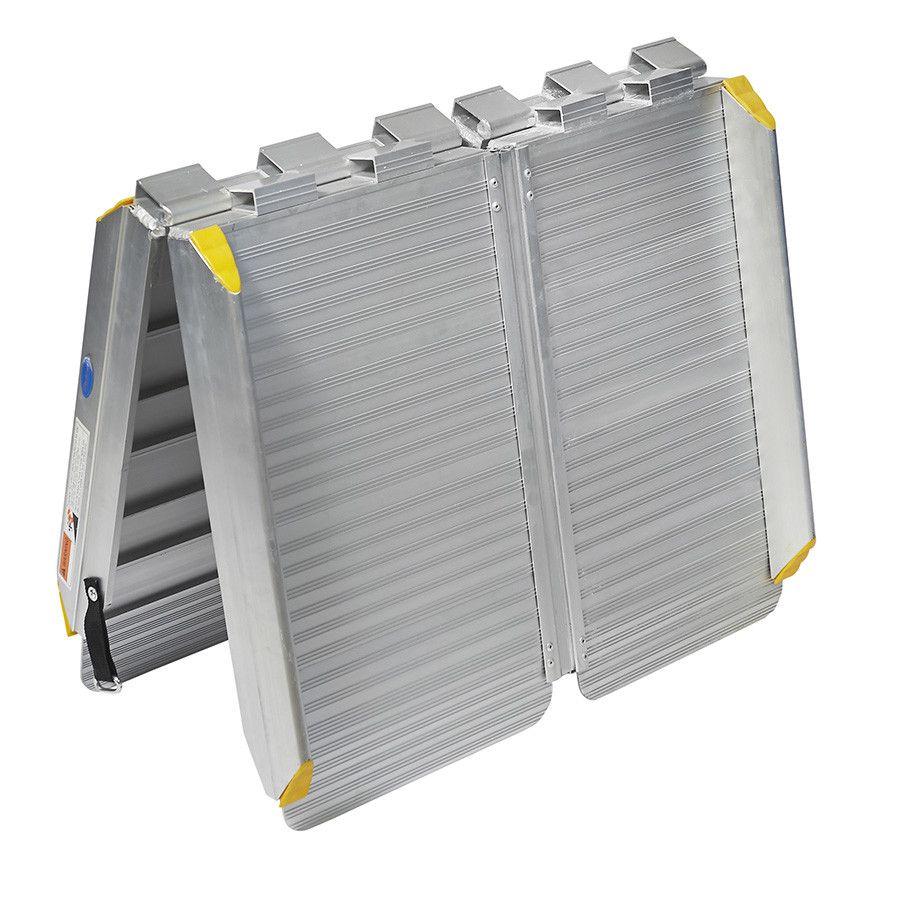 Oprijplaat inklapbaar - 120 cm rijplaat oprijgoot aluminium  2