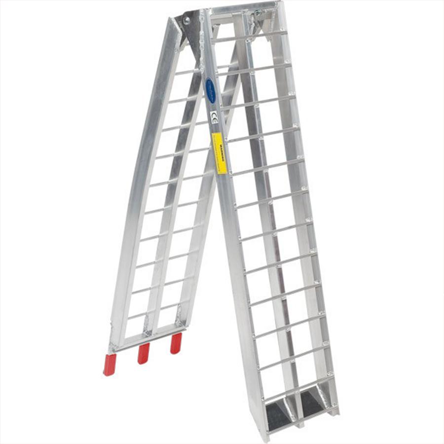 Aluminium oprijplaat 225 cm rijplaat oprijgoot rijplank 4