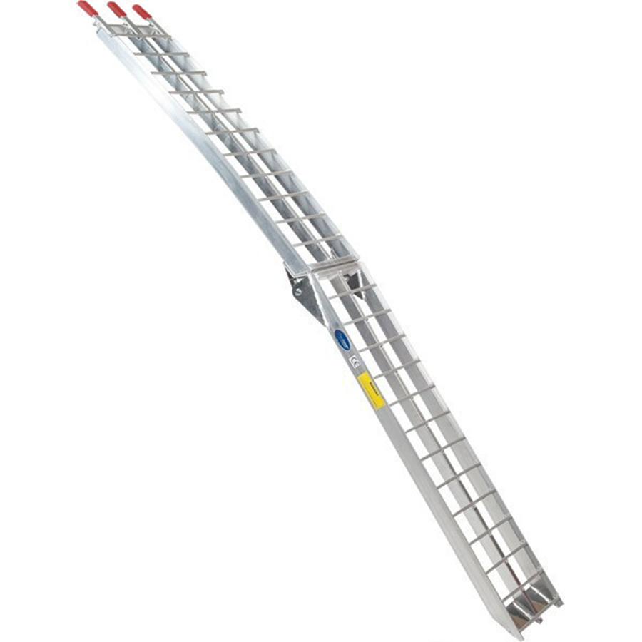 Aluminium oprijplaat 225 cm rijplaat oprijgoot rijplank 6