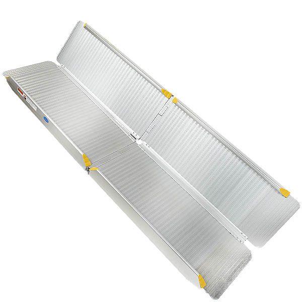 Oprijplaat aluminium - inklapbaar - 240 cm oprijgoot rijplaat 3