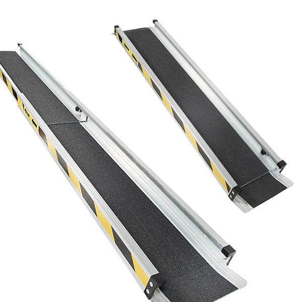 Aluminium oprijplaat uitschuifbaar - 150 cm (2 stuks) 2