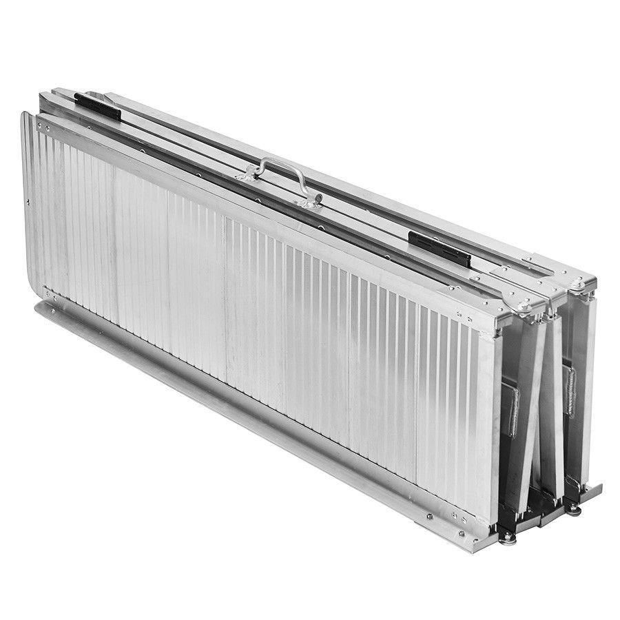 Lange, aluminium oprijplaat drempelhulp opvouwbaar - 240 cm rijgoot rijplaat 6