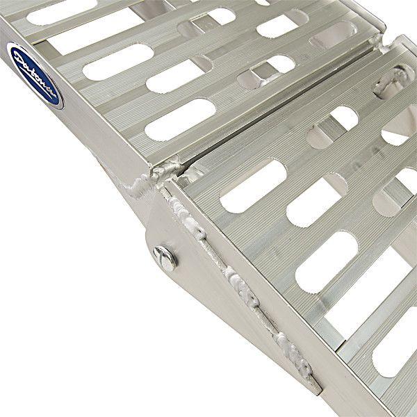 Extra stevige aluminium oprijplaat opklapbaar - 225 cm rijplaat rijgoot 3