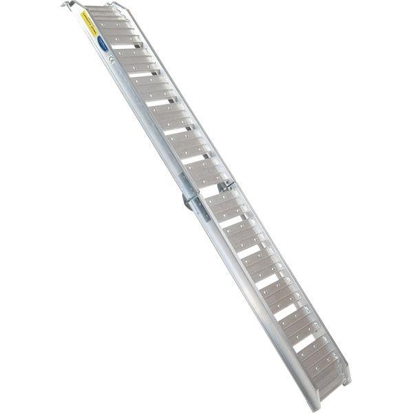 Aluminium oprijplaat - opvouwbaar - 182 cm rijgoot oprijhelling rijplaat 4