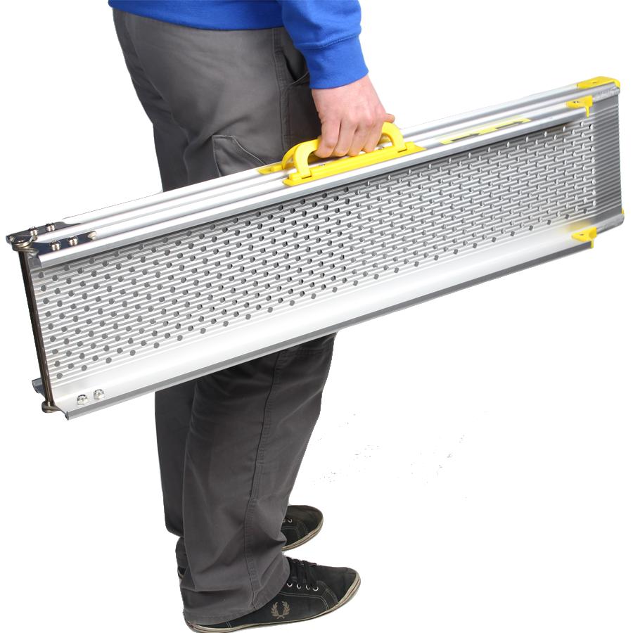 Aluminium oprijplaat opvouwbaar - 180 cm rijgoot rijplaat 3