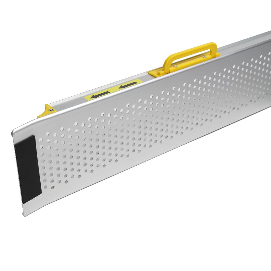 Aluminium oprijplaat opvouwbaar - 180 cm rijgoot rijplaat 2