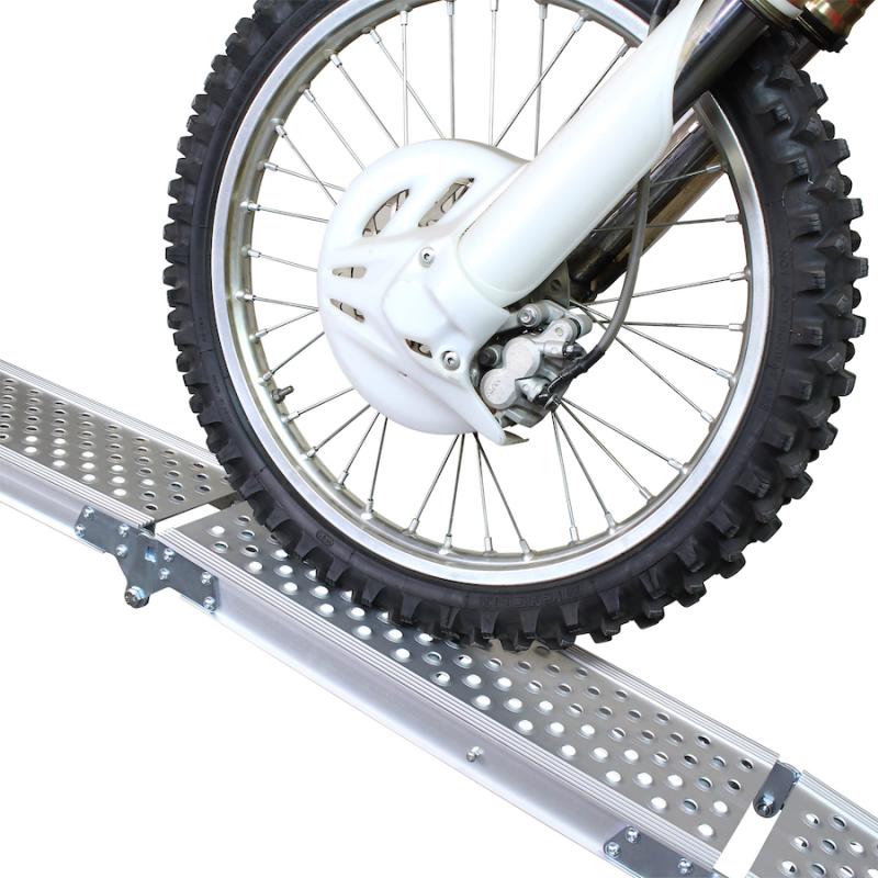 Aluminium oprijplaat compact twee keer inklapbaar - 195 cm - 2 stuks 4