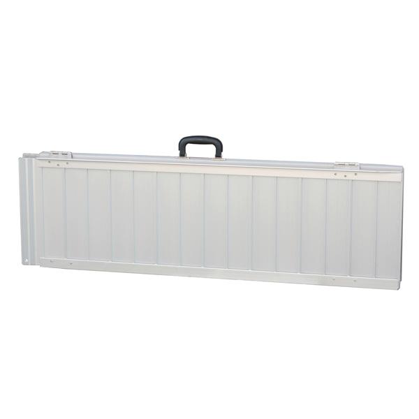 Oprijplaat extra breed - 240 cm rijplaat rijgoot aluminium plaat 9