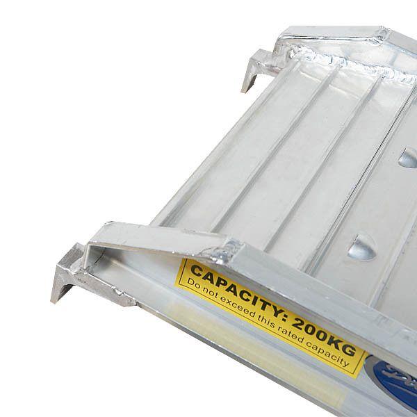 Aluminium oprijplaat - opvouwbaar - 182 cm rijgoot oprijhelling rijplaat 1