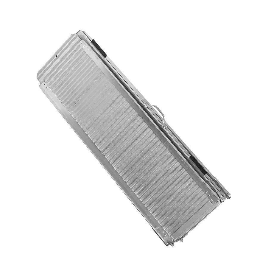 Lange, aluminium oprijplaat drempelhulp opvouwbaar - 240 cm rijgoot rijplaat 5