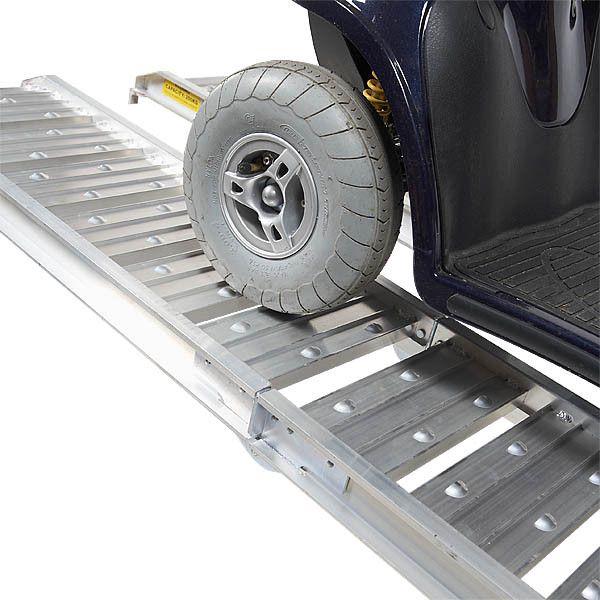 Aluminium oprijplaat - opvouwbaar - 182 cm rijgoot oprijhelling rijplaat 6