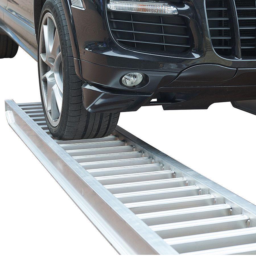 Aluminium oprijplaat auto - 350 cm - 2 ton rijgoot rijplaat  2