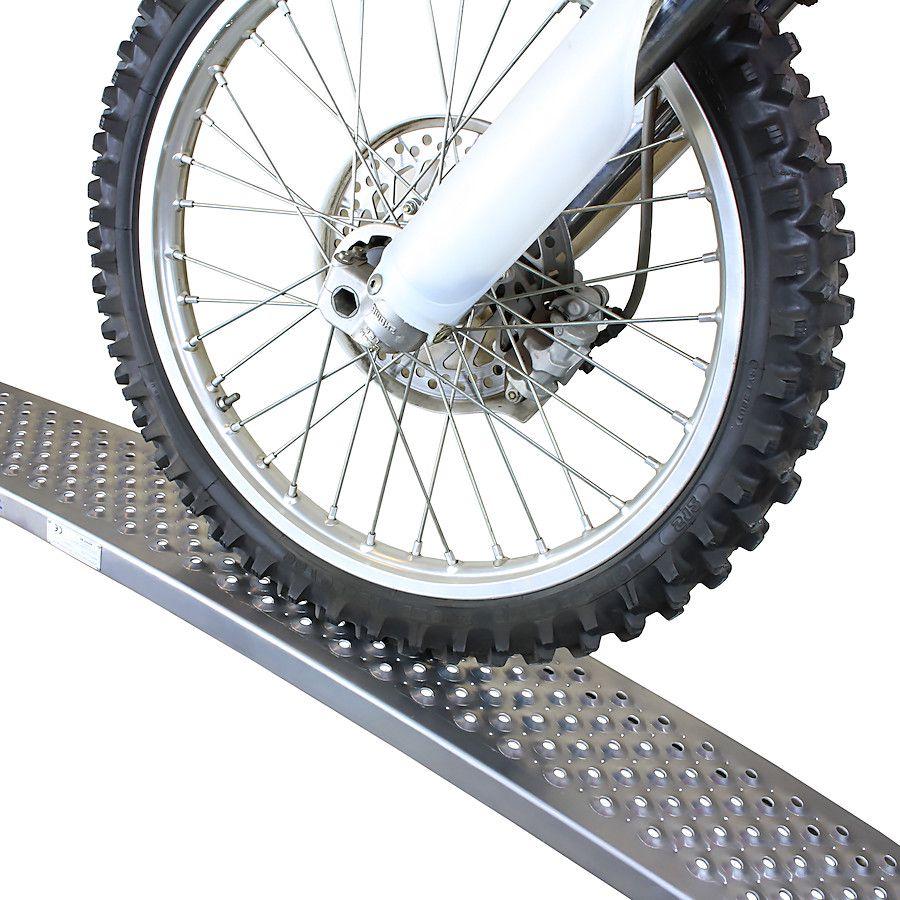 Aluminium oprijplaat - gebogen 150 cm oprijgoot rijplank plaat 1