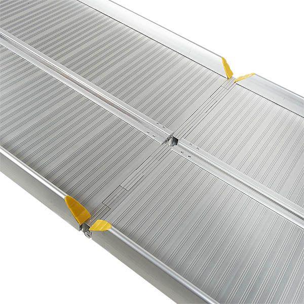 Sterke oprijplaat aluminium - inklapbaar - 180 cm rijplaat oprijgoot 7