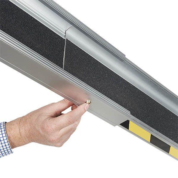 Aluminium oprijplaat - 150cm - inschuifbaar rijplaat rijgoot 3