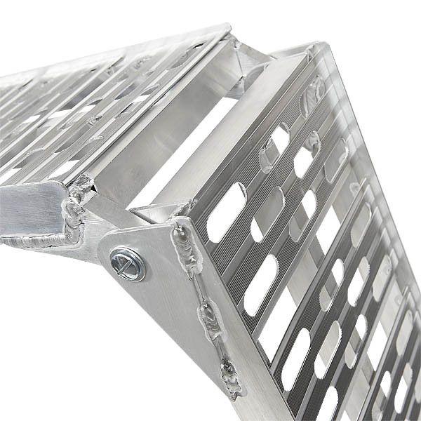 Extra stevige aluminium oprijplaat opklapbaar - 225 cm rijplaat rijgoot 5
