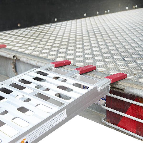 Extra stevige aluminium oprijplaat opklapbaar - 225 cm rijplaat rijgoot 6