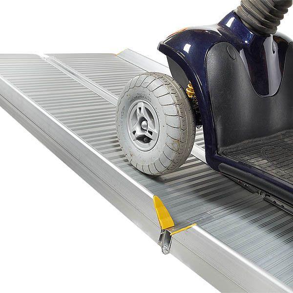 Sterke oprijplaat aluminium - inklapbaar - 180 cm rijplaat oprijgoot 1