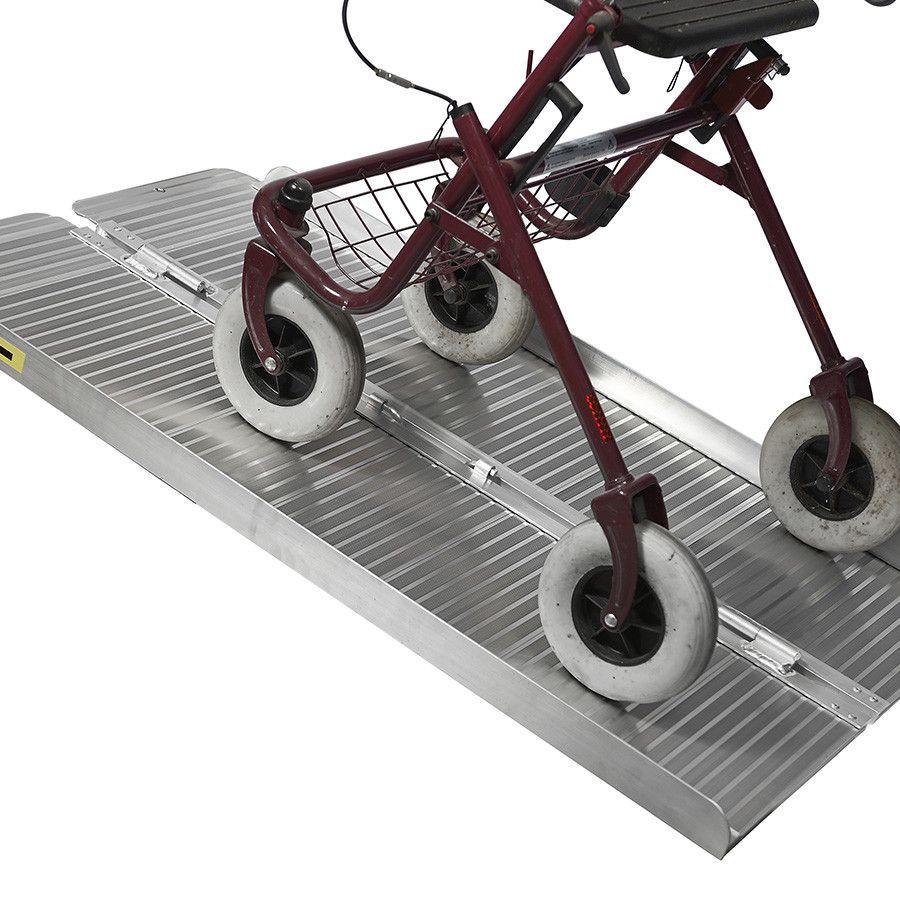 Oprijplaat scootmobiel 120 cm - aluminium rijgoot rijplaat rolstoel rollator 9