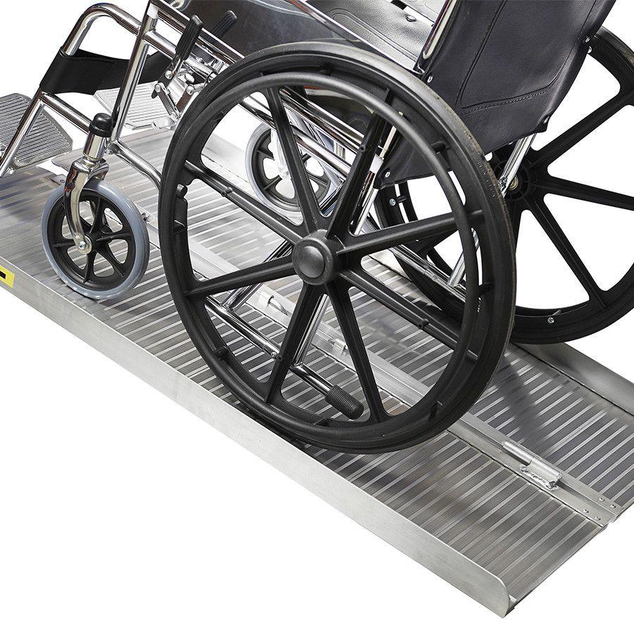 Oprijplaat scootmobiel 120 cm - aluminium rijgoot rijplaat rolstoel rollator 10