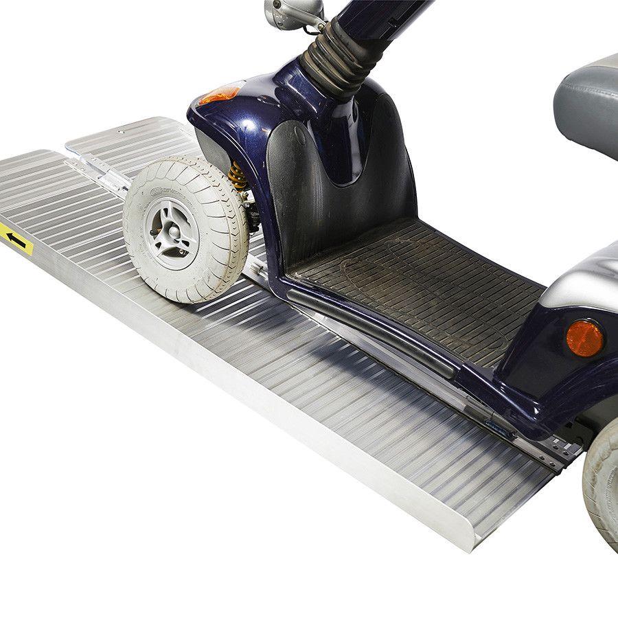 Oprijplaat scootmobiel 120 cm - aluminium rijgoot rijplaat rolstoel rollator 1