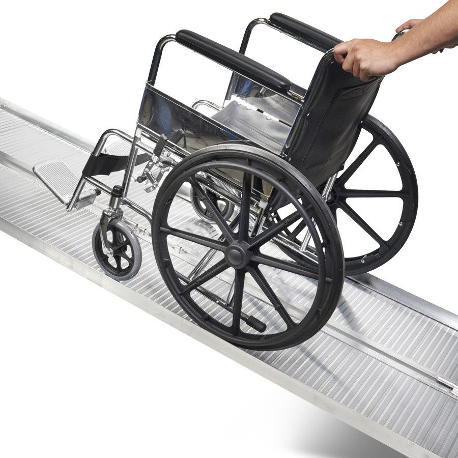 Oprijplaat extra breed - 240 cm rijplaat rijgoot aluminium plaat 1