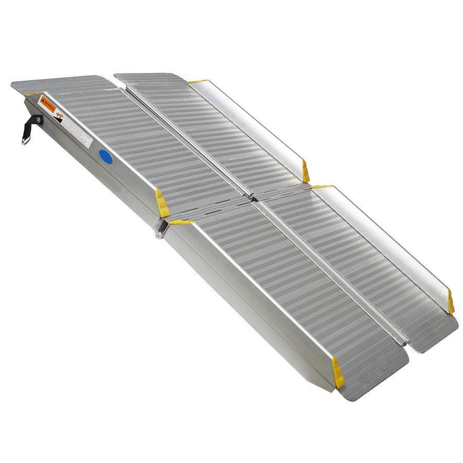 Oprijplaat inklapbaar - 120 cm rijplaat oprijgoot aluminium  1