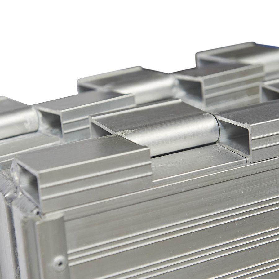 Oprijplaat inklapbaar - 120 cm rijplaat oprijgoot aluminium  6